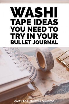 Washi Tape for Bujo and bujo spreads. Get washi tape ideas for your Bullet journal. Bullet Journal Washi Tape, Bullet Journal And Diary, Bullet Journal Hacks, Bullet Journal How To Start A, Bullet Journal Spread, Bullet Journal Layout, Bullet Journals, Bullet Journal For Teachers, Junk Journal