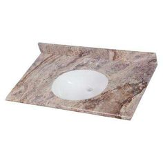 Home Decorators Collection 37 in. W x 22 in. D Stone Effects Vanity Top in Cold Fusion with White Sink - The Home Depot Vanity Tops With Sink, Bathroom Vanity Tops, Vanity Sink, Cultured Marble Vanity Tops, Install Backsplash, 36 Inch Vanity, Cold Fusion, Vanity Countertop, Engineered Stone
