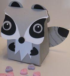 Fancy Favor Raccoon Box