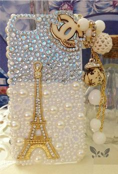 chanel eiffel tower pearl iphone 5 cover_01