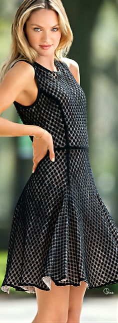 Fashion ● On The Street ~ I have a dress with these lines. It feels really nice on but is a touch claustrophobic in the bosom.