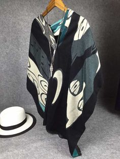 NEW ARRIVAL!!! Abstract cartoon graffiti cat scarves wholesale fashion women long warm winter shawl