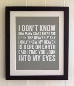 FRAMED Lyrics Print  Michael Jackson Maybe by thebluebutterflyemp
