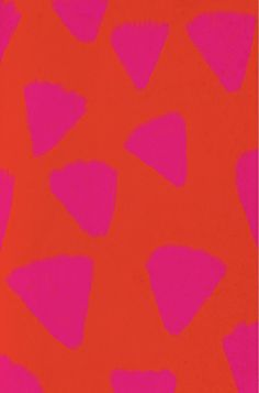 big neon pink triangles on burnt orange background | lovely big print pattern