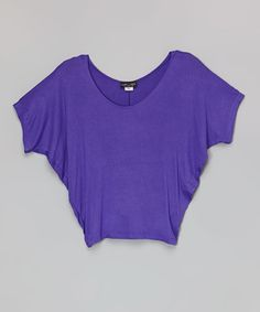 Look what I found on #zulily! Purple Angel-Sleeve Top by Rated G #zulilyfinds