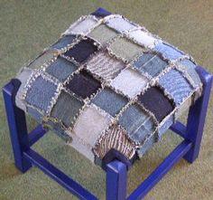 denim stool