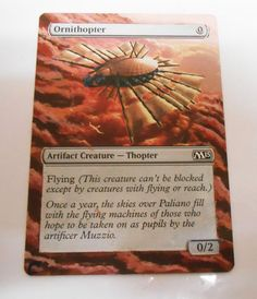 MTG Altered Painted Ornithopter M15 #WizardsoftheCoast