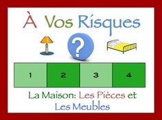 Interactive French Powerpoint Activity with Room and Furniture Vocabulary