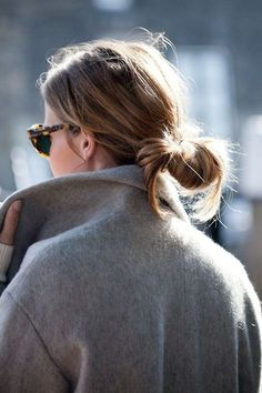 glasses and slouchy coat