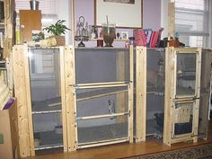 Want to keep rabbit for meats or pet? You need to build a rabbit hutch. Here's a collection of 50 free DIY rabbit hutch plans and ideas. Rabbit Hutch Plans, Rabbit Hutches, Diy Cat Enclosure, Reptile Enclosure, Ikea Cubes, Wine Rack Plans, Bunny Room, Bunny Hutch, Indoor Rabbit