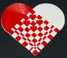 So these are actually Danish Christmas woven heart baskets but they're really awesome and this is an entire blog devoted to them and it has some really incredible designs (like over 300) - Weaved Heart A Day