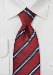 Klassische Regiments-Krawatte in Rot, XXL günstig kaufen