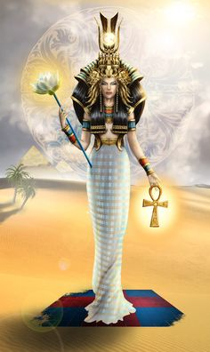 In the typical form of her myth, Isis was the first daughter of Geb, god of the Earth, and Nut, goddess of the Sky, and she was born on the fourth intercalary day. She married her brother, Osiris, and she conceived Horus with him. Isis was instrumental in the resurrection of Osiris when he was murdered by Set. Using her magical skills, she restored his body to life after having gathered the body parts that had been strewn about the earth by Set.