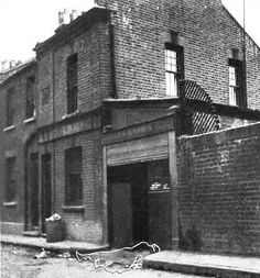 """Buck's Row, Whitechapel Site of the murder of Jack the Ripper's victim, Mary Ann """"Poly"""" Nichols, on 31 August 1888 and near where was my flat in london . East End London, Old London, London City, London History, British History, Old Pictures, Old Photos, Antique Photos, Mary Ann Nichols"""