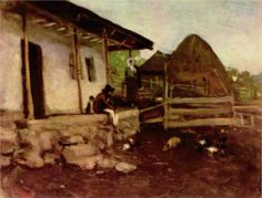Farmhouse Yard - Nicolae Grigorescu - WikiPaintings.org