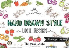 Custom Logo Design Hand Drawn Style Logo Wordpress Website Logo Blog Logo Business