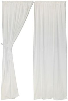 Living Textiles Baby Twill Curtains - Ivory - Best Price  #4DiaperscomNursery