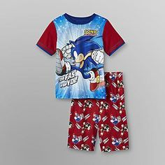Sonic The Hedgehog On The Run Pajamas Sonic Apparel For