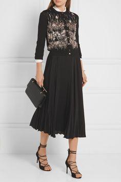OSCAR DE LA RENTA Embellished wool cardigan$2,190