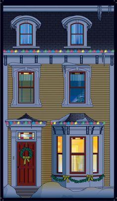 Facade House, House Facades, Diorama, House Clipart, Newfoundland And Labrador, Paper Houses, Book Nooks, Bullet Journal Inspiration, Fairy Houses