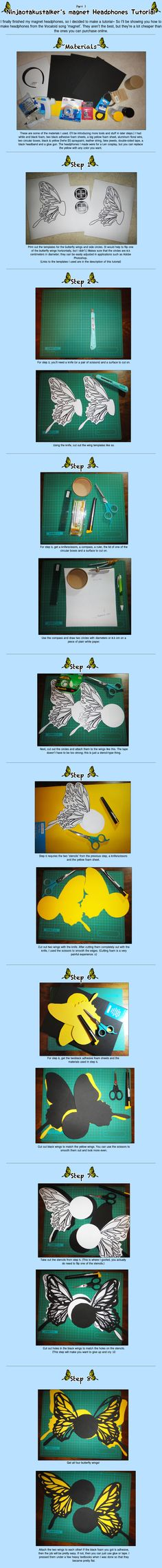 magnet Headphones Tutorial Part 1 by Ninjaotakustalker.deviantart.com on @deviantART