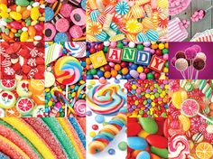 Lafayette Puzzle Factory, 1000 pieces,Colorful Candy (Collage Collection)