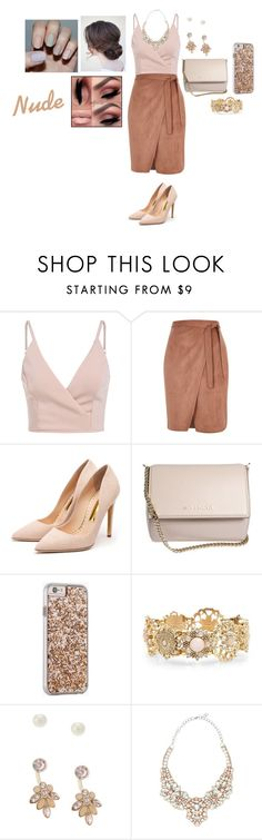 """Nude"" by lilly-rose-dcxxx ❤ liked on Polyvore featuring River Island, Rupert Sanderson, Givenchy, Case-Mate, Lipsy and Valentino"