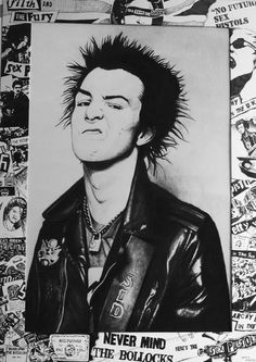 Sid Vicious Collage Drawing by Steve Hunter