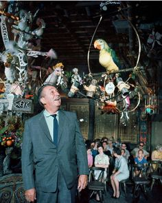 Walt Disney in the Tiki Room, Calif. Disneyland