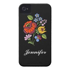 Customizable iPhone case with authentic Hungarian Kalocsai embroidery design. $44.40 #iPhone #case #Hungary #embroidery #flowers