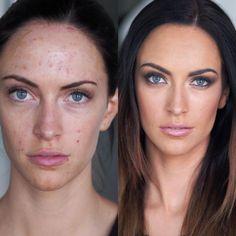 En maquillage, les photos avant- après sont un bon moyen de mesurer le travail d'un makeup artist. Voici 5 exemples du travail de la maquilleuse Vivian Johnson qui nous ont impressionnés