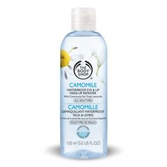 The Body Shop Camomile Waterproof Eye Makeup Remover. This is gentle and effective. #holygrailbeautyproducts
