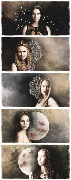 Mary (Adelaide Kane) and her ladies in waiting from Reign on the CW