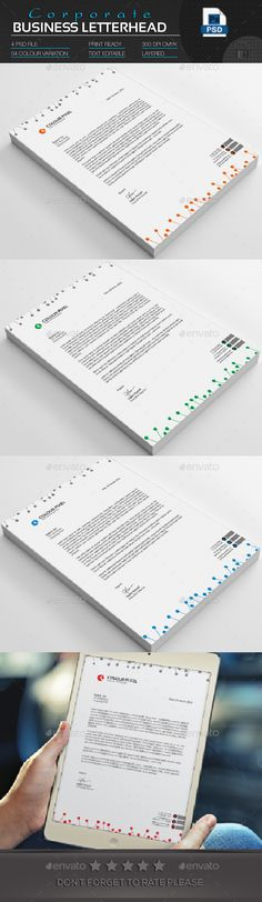 Corporate Business Letterhead Corporate business, Business and - business letterhead