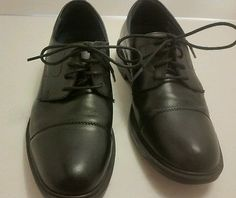 Ďr Scholls Men's size 7 W black leather dress loafers comfort leather shoes