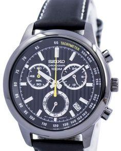 SEIKO Chronograph SSB213P1 Orologio Crono Superior Uomo Leather Men's Watch