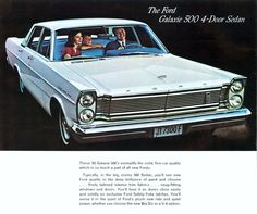 1965 Ford Galaxie Ad #volkswagonclassiccars