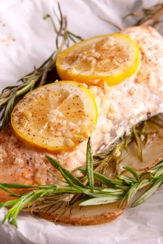 Garlic Rosemary Salmon  Proof that simple can be crazy delicious.Get the recipe from Delish.