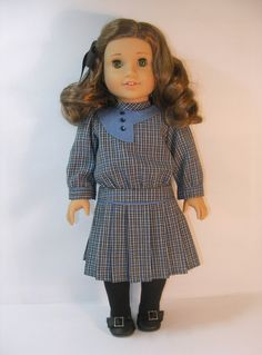 1914-110   18 Inch Doll Clothes American Girl Rebecca Dress. $44.25, via Etsy.