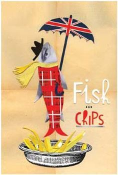 New Print by Sara Fanelli - Fish n Chips