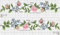 Barrado flores e borboletas