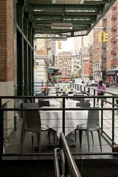 Outdoor cafe in Tribeca, Manhattan, New York City by jackie weisberg, via Flickr