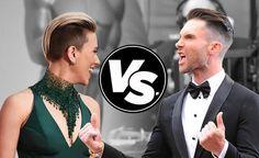 Haircut face-off: Scarlett Johansson vs. Adam Levine