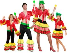 Familia de Rumberos #disfraces #carnaval #disfracesparagrupos