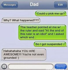 40 Hilarious Dad Texts That You'll Ever Read - FunRare 40 Hilarious Dad Texts That You'll Ever Read - FunRare,Humor 40 Hilarious Dad Texts That You'll Ever Read - FunRare jokes memes hilarious pictures texts hilarious can't stop laughing Funny Texts Crush, Funny Text Fails, Funny Text Messages, Funny Jokes, Funny Dad, Sms Text, Funny Stuff, Memes Humor, Dad Humor