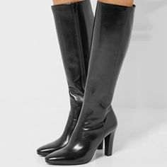 Shoespie Sexy Black Cut Out Thigh High Boots
