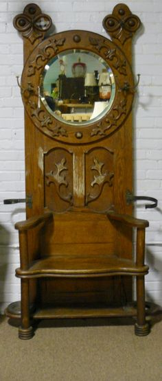 A Walnut Cupboard A 'Free Swinger' and a Folding Game Table! Table Games, Cupboard, Clock, Home Decor, Board Games, Clothes Stand, Watch, Armoire, Decoration Home
