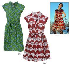 Handmade batik dresses from Global Girlfriend- fair trade from Ghana