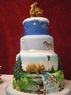 My future Alaskan wedding cake! Pretty Cakes, Beautiful Cakes, Amazing Cakes, Simply Beautiful, Take The Cake, Love Cake, Unique Cakes, Creative Cakes, Cupcakes
