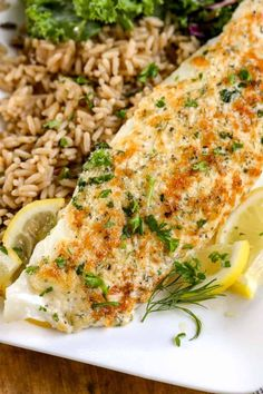 Parmesan Crusted Tilapia Recipe (Broiled in 10 min!) - Spend with tilapia recipes - Dinner Recipes Salmon Recipes, Fish Recipes, Seafood Recipes, Dinner Recipes, Cooking Recipes, Healthy Recipes, Cooking Rice, Recipies, Healthy Fats